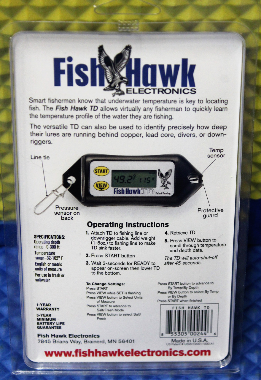Fish Hawk TD Digital Water Temperature and Depth Reader