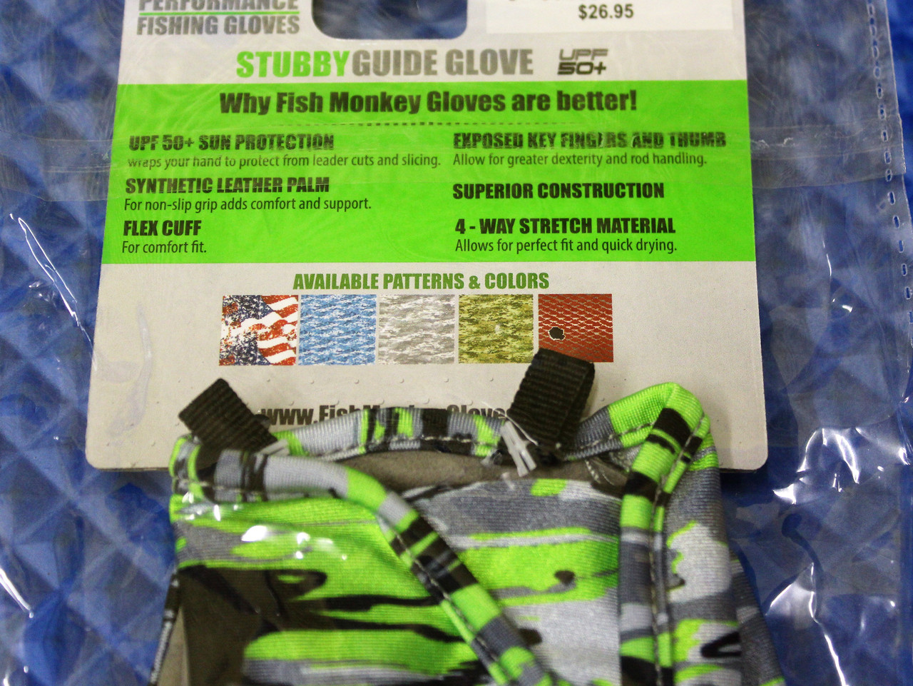 Fish Monkey Stubby Guide Glove FM18-VSG- CHOOSE YOUR SIZE!