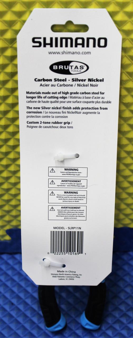 "Shimano Brutus Double Silver Nickel Finish 11""Long Reach Pliers SLRP11N"