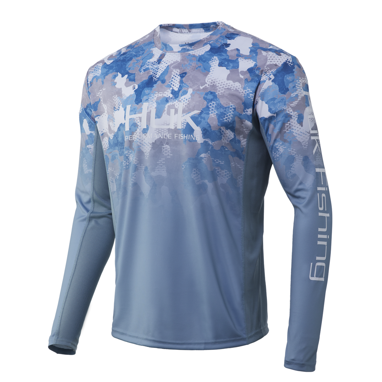HUK Icon X KC Refraction Camo Fade Long Sleeve Shirt H1200288-459 Ice Boat CHOOSE YOUR SIZE!