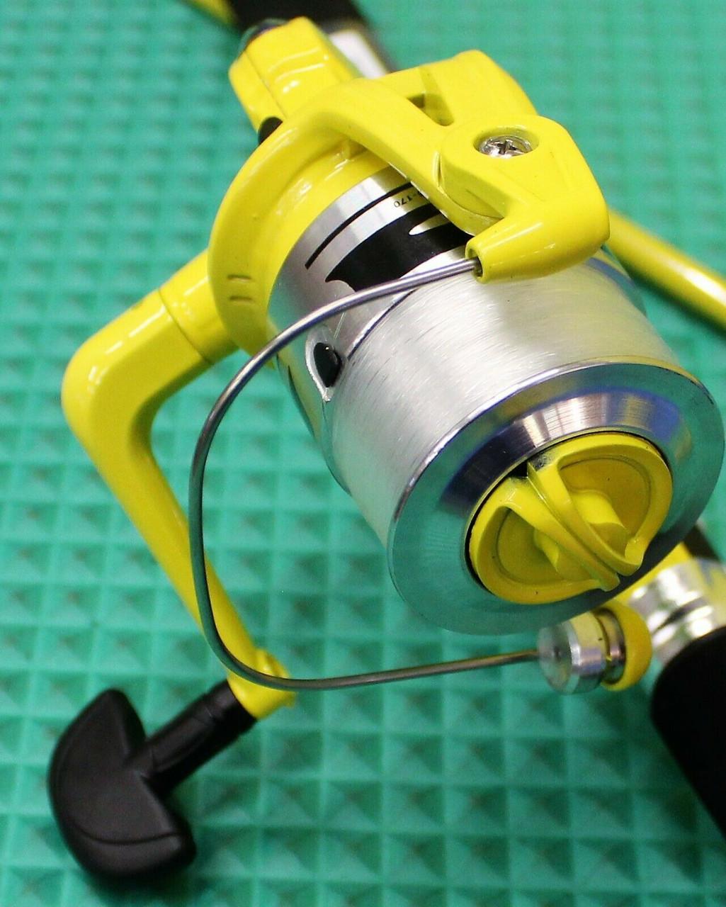"Okuma Fin Chaser X Spinning Combo Yellow 8' 0"" Rod 2 Piece 40 Reel Spooled  FNX-80-40YL"