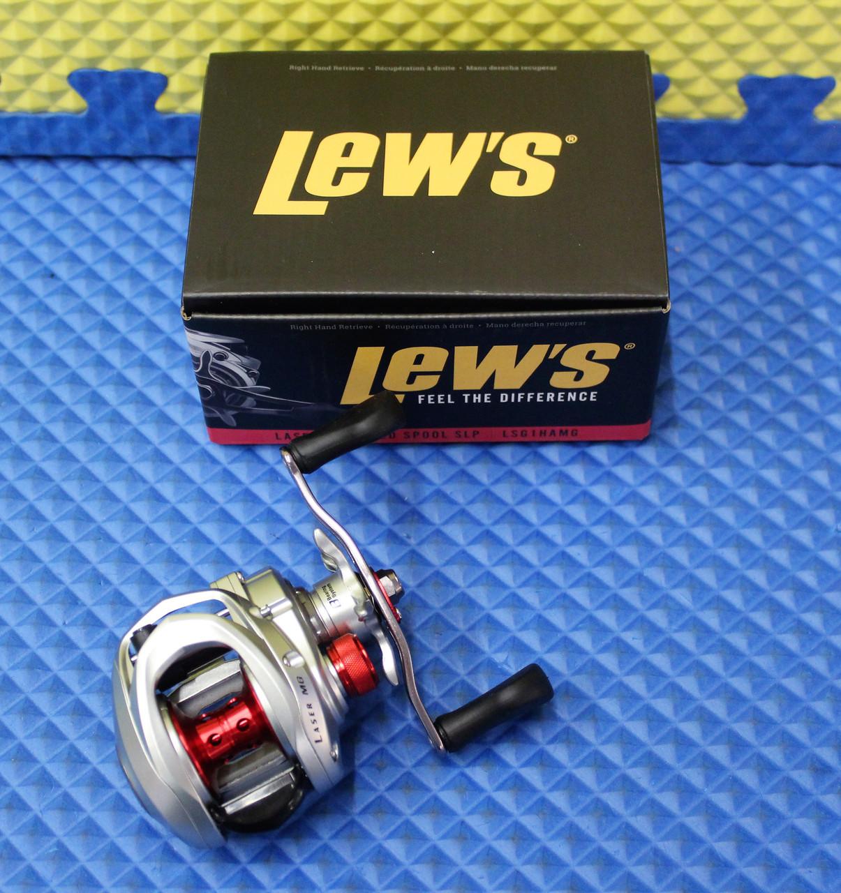 Lew's Laser MG Speed Spool SLP Baitcaster Reel LSG1HAMG Box Bottom Red Stripe