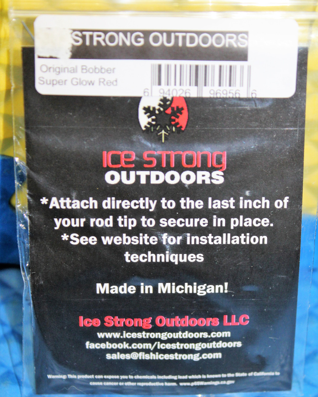 Ice Strong Super Glow Original  Titanium Spring Bobbers With Bead For 4.0-5.0mm Tungsten Jigs CHOOSE YOUR COLOR!