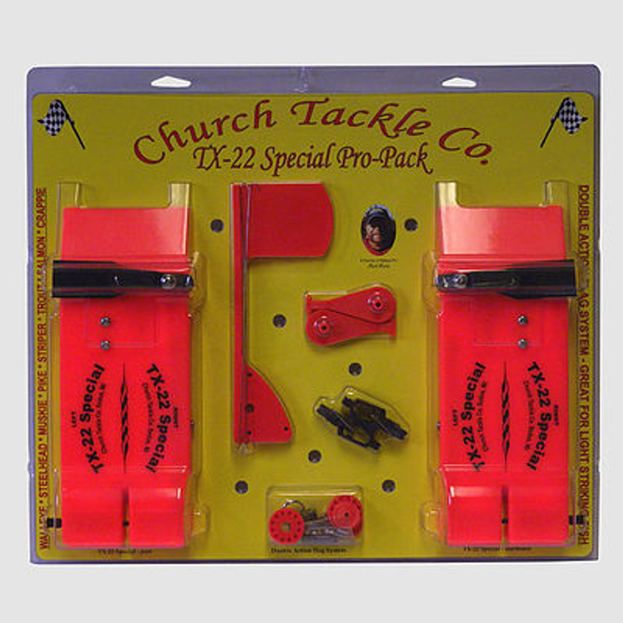 Church Tackle TX-22 Special Pro Pack Planer Board & Flag System