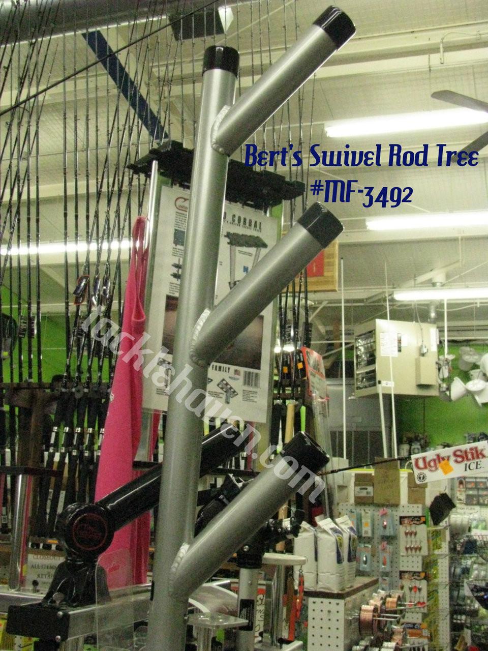 BERTS CUSTOM TACKLE SWIVEL ROD TREE MF-3492