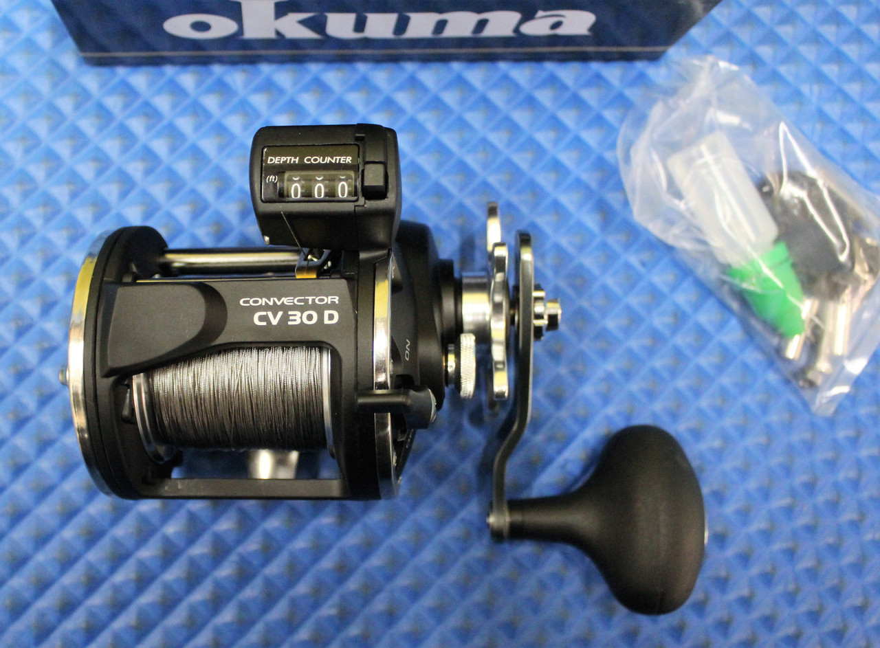Okuma Convector CV 30D Line Counter Reel Pre-spooled With Wire