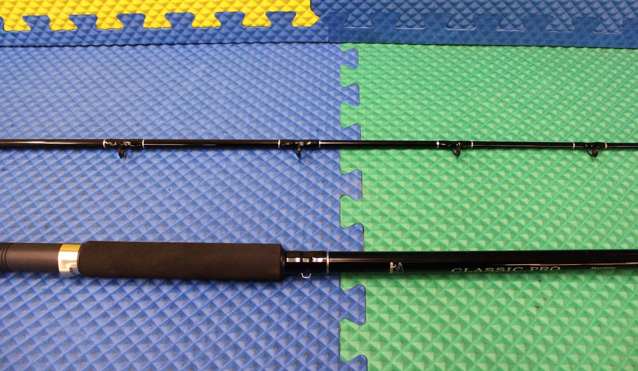 "Okuma Classic Pro Trolling Rod 7/' 6/"" 2 Piece Chartreuse Tip CPC-762-CT"