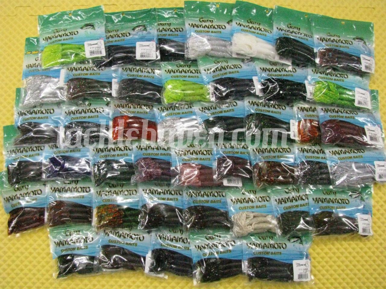 """Gary Yamamoto Double Tail Hula Grub 4/"""" 10pk  Bass /& Trout Fishing Lure"""