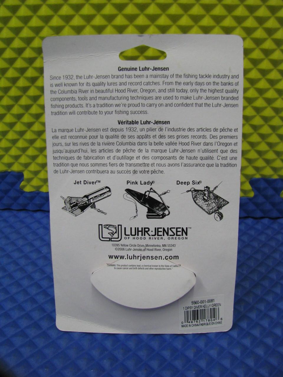 Luhr Jensen 1 Dipsy Diver Black//Black Bottom