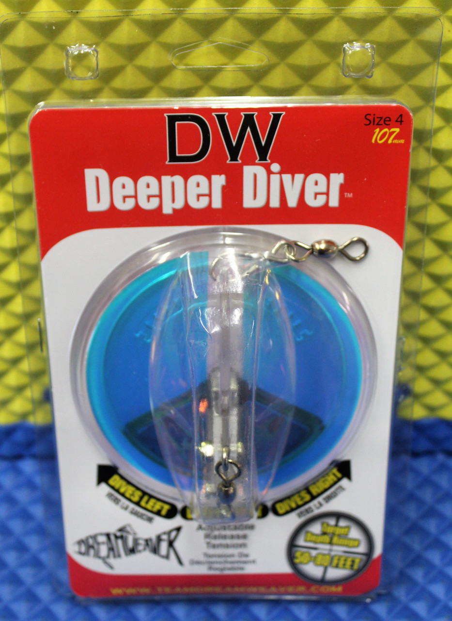 Dream Weaver Deeper Diver 107 Clear UV TAPE NEW COLOR! Size 4