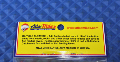Atlas Mikes Bait Sac Floaters 300/BAG CHOOSE YOUR COLOR!