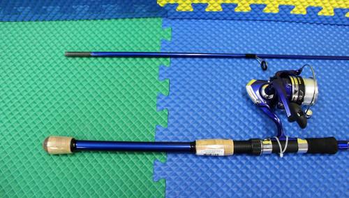 "Okuma Fin Chaser X Spinning Combo 7' 0"" Rod 2 Piece 40BL Reel Spooled  FNX-70-40BL"