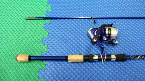 "Okuma Fin Chaser X Spinning Combo 6' 6"" Rod 2 Piece 30BL Reel Spooled  FNX-662-30BL"