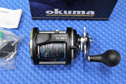 Okuma Convector CV 45L Levelwind Reel Pre-Spooled With Lead Core