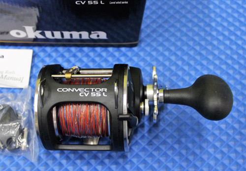 Okuma Convector CV 55L Levelwind Reel Pre-Spooled With 15-Colors Lead Core
