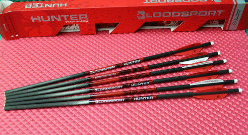 "Bloodsport Hunter Crossbow 100% Carbon 20"" Bolts 300 Grain 6-Pack W/W/R 8110003"