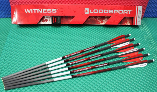 "Bloodsport Witness Crossbow Carbon 22"" Arrow 325 Grain 6-Pack R/R/W B8112053"