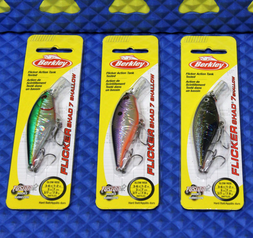 Berkley Flicker Shad 7 Shallow Slow Rise 3'-6' Size 7 FFSH7S Series CHOOSE YOUR COLOR!