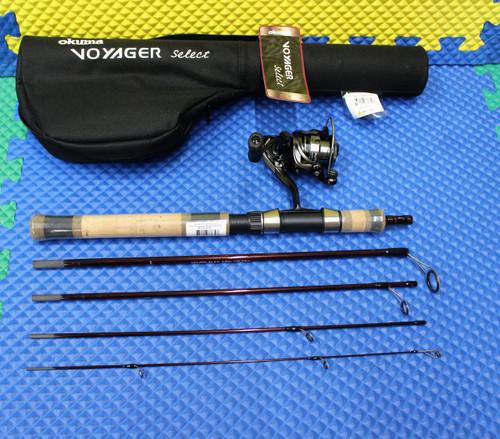 "Okuma Voyager Select Spinning Travel Kit Combo 6' 0"" Rod Light ATE-20 Reel VSX-605L-20"