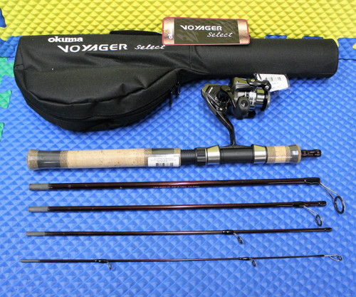"Okuma Voyager Select Spinning Travel Kit Combo 6' 0"" Rod Medium ATE-20 Reel VSX-605M-20"