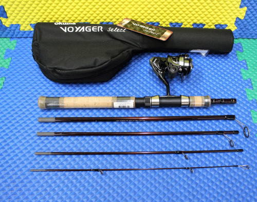 "Okuma Voyager Select Spinning Travel Kit Combo 6' 5"" Rod Medium Heavy ATE-20 Reel VSX-665MH-20"