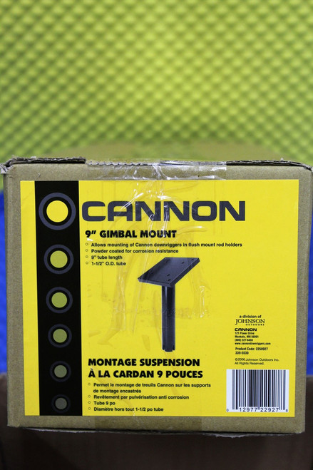"""Cannon Downrigger Accessories 9"""" Gimbal Mount 2250927"""