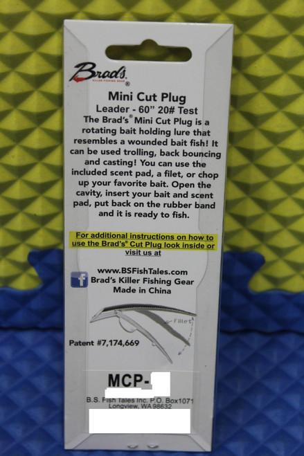 Brad's Super Bait Mini Cut Plug UV (UV Glow Back) CHOOSE YOUR COLOR!