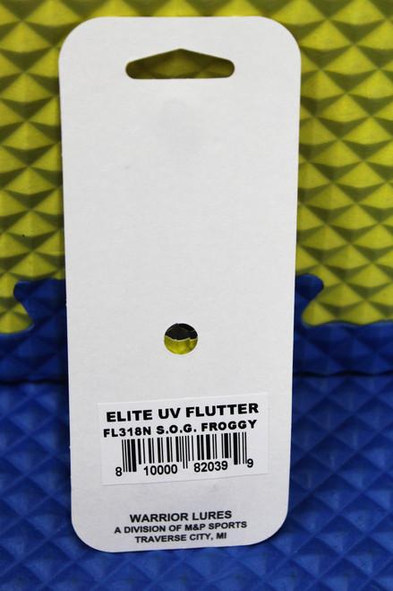 "Warrior Elite U.V. Flutter Lures 3-3/8"" By M & P Sports Silver Plated CHOOSE YOUR COLOR!"