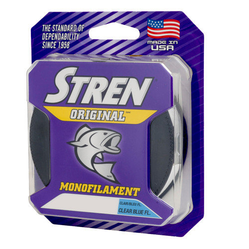 Stren Original Monofilament 250-330yd SPOOL Fishing Line Clear Blue Fluorescent CHOOSE YOUR LINE WEIGHT!