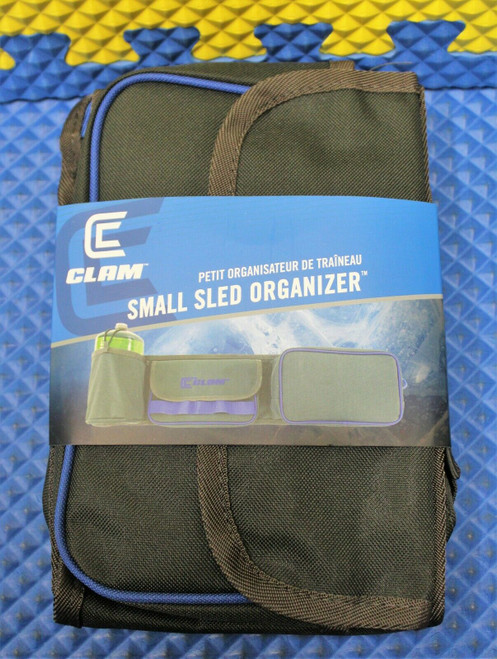Clam Outdoors Small Sled Organizer Fish House Gear Holder Item 14546