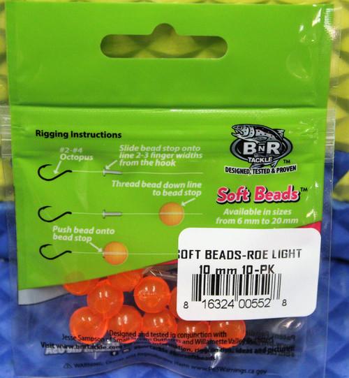BnR Tackle Soft Beads 10 MM 10-Pack CHOOSE YOUR COLOR!