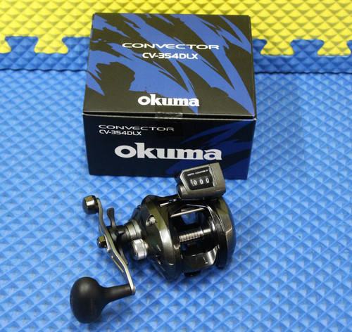 Okuma Convector Low Profile Line Counter Reel Left Handed CV-354DLX