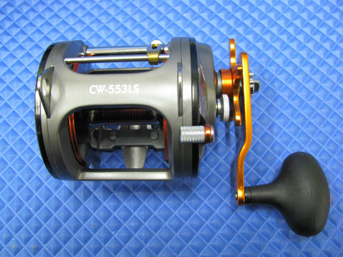 Okuma Cold Water High Speed Levelwind Trolling Reel CW-553LS Pre-spooled With 45# Copper, 25# Solar Green Backing, 50 Feet 20# Leader CHOOSE YOUR COPPER LENGTH!