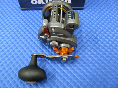 Okuma Cold Water HI Speed Line Counter Trolling Reel CW 453DS Pre-spooled With 30# Copper, 20# Solar Green Backing, 50 Feet 20# Leader CHOOSE YOUR COPPER LENGTH!