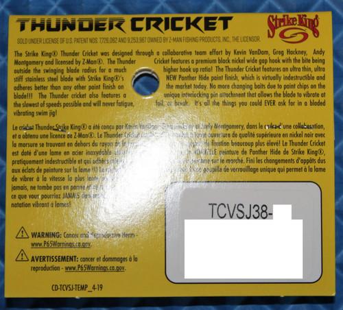 Strike King Thunder Cricket With Jungle Flipping Hook TCVSJ38 3/8 Oz. CHOOSE YOUR COLOR!