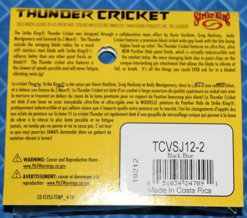 Strike King Thunder Cricket With Jungle Flipping Hook TCVSJ12 1/2 Oz., CHOOSE YOUR COLOR!