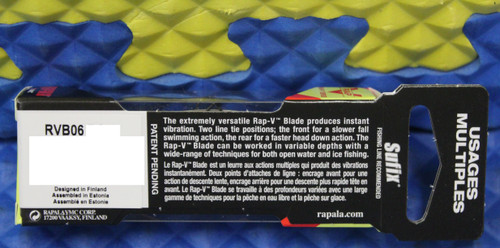 Rapala Rap-V Series Lure Blade Rattling Sinking RVB06 CHOOSE YOUR COLOR!