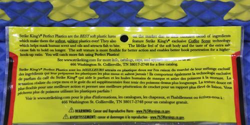 """Strike King KVD Perfect Plastics Dream Shot 4-1/4"""" 10PK DSKVD CHOOSE YOUR COLOR!"""