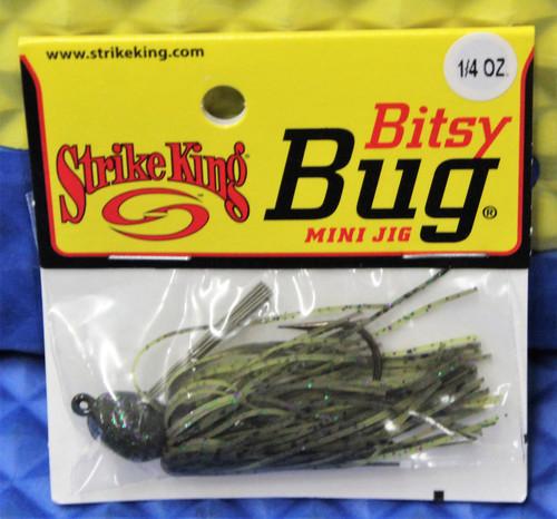 Strike King Bitsy Bug Mini Jig 1/4 OZ BBJ14 CHOOSE YOUR COLOR!