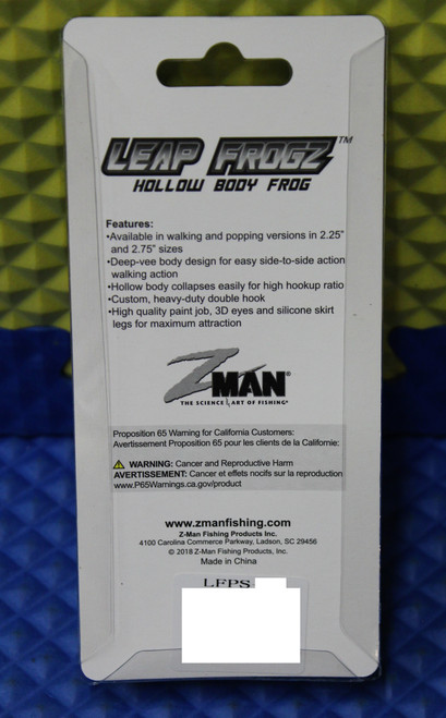 "Z-MAN Leap FrogZ Popping FrogZ 2.25"" LFPS Series CHOOSE YOUR COLOR!"