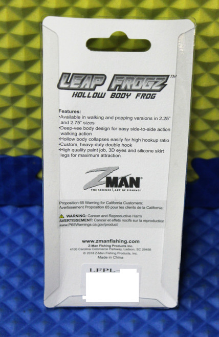 "Z-MAN Leap FrogZ Popping FrogZ 2.75"" LFPL Series CHOOSE YOUR COLOR!"