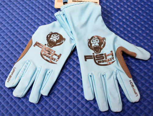 Fish Monkey Full Finger Guide Glove FM10-LTBLUE-CHOOSE YOUR SIZE!