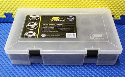 PLANO 3700 Series Prolatch Bait Jar Organizer StowAway Storage Box Clear Model 2373130