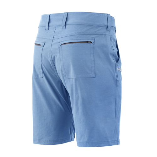 "HUK NXTLV  7"" Shorts (10.5"" Above The Knee 7"" Inseam) H2000040-420 Carolina Blue CHOOSE YOUR SIZE!"