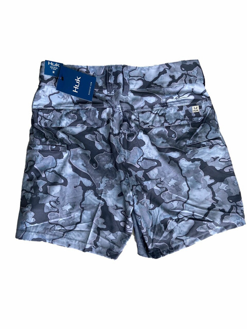 """HUK Lowcountry Camo 6"""" Shorts (16.5"""" Above The Knee 6"""" Inseam) H2000110-037 Erie CHOOSE YOUR SIZE!"""
