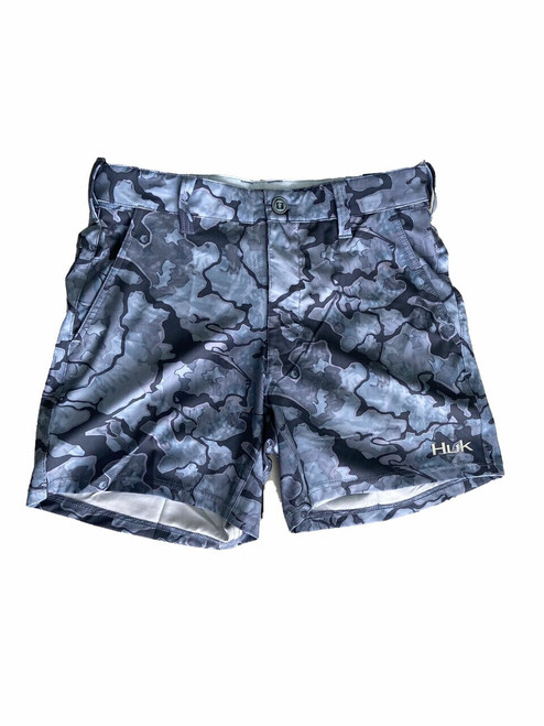 "HUK Lowcountry Camo 6"" Shorts (16.5"" Above The Knee 6"" Inseam) H2000110-037 Erie CHOOSE YOUR SIZE!"