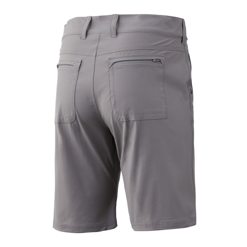"HUK NXTLV  10.5"" Shorts (Below The Knee 10.5"" Inseam) H2000011-020 Grey CHOOSE YOUR SIZE!"