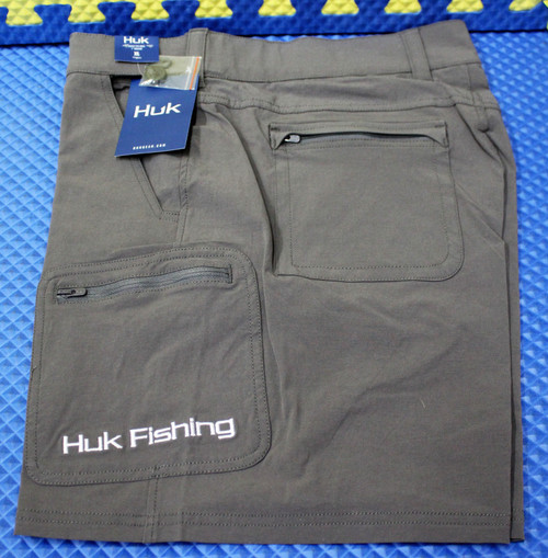 "HUK NXTLV  7"" Shorts (Above The Knee 7"" Inseam) H2000040-010 Iron CHOOSE YOUR SIZE!"