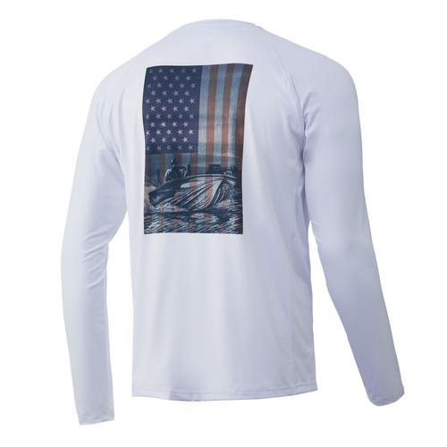 HUK KC American Shotgun Pursuit Long Sleeve Shirt H1200314-100 White CHOOSE YOUR SIZE!