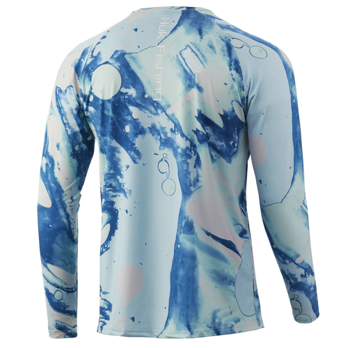 HUK Tie Dye Lava Long Sleeve Shirt H1200331-350 Seafoam CHOOSE YOUR SIZE!